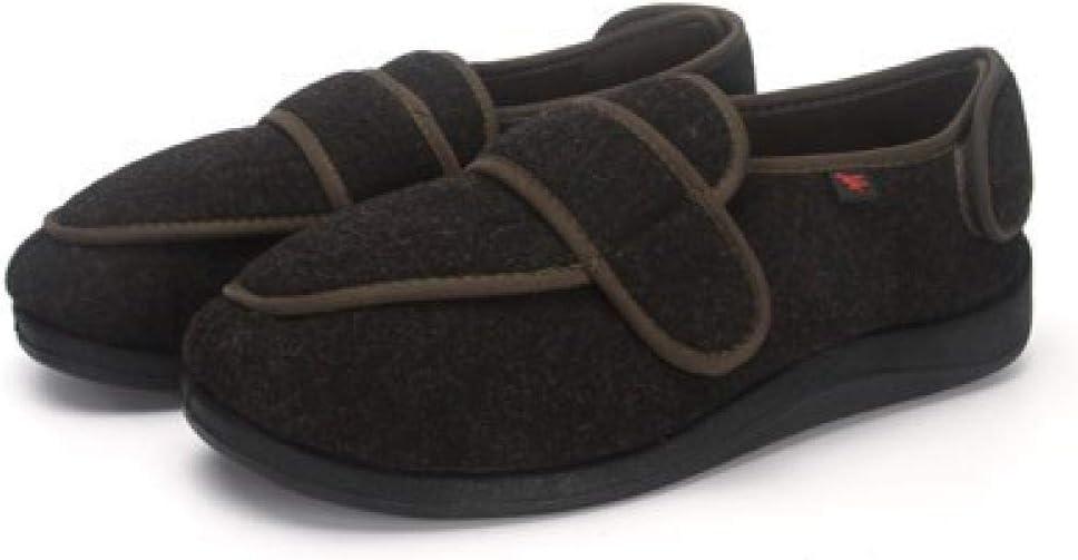 QFYD FDEYL Zapatos ortopédicos quirúrgicos para Mujeres,Zapatos térmicos de Velcro Ajustables para Empeine alto-43_ Verde Oscuro, Zapatos Diabéticos Respirable