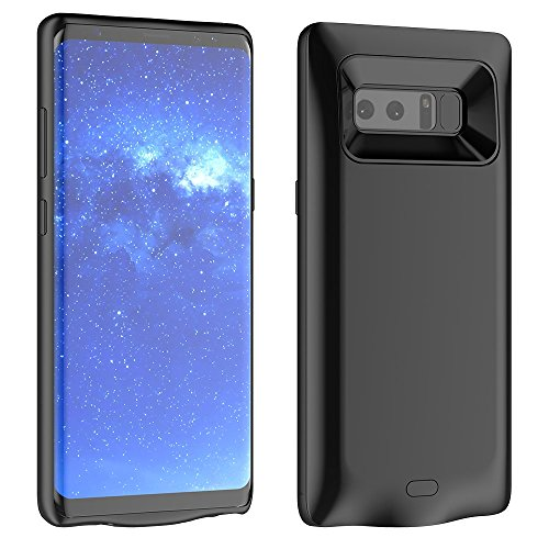 Samsung Galaxy Note 8 Battery Case, Moonmini 5500mAh External Rechargeable Portable Extended Battery Charger Pack Power Bank Backup Charging Cover Protective Case Shell (Black)