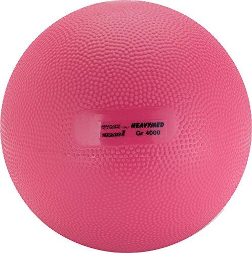Gymnic Heavymed 4 Medicine Ball, Magenta (20 cm, 4 kg / 8.8 lbs) by Gymnic