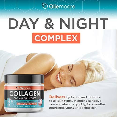 Collagen Cream - Anti Aging Moisturizer - Facial Day & Night Cream- Anti-Aging Face Cream - Collagen Complex with Vitamin C - Anti Wrinkle Cream - Hyaluronic Acid Cream - Made in USA
