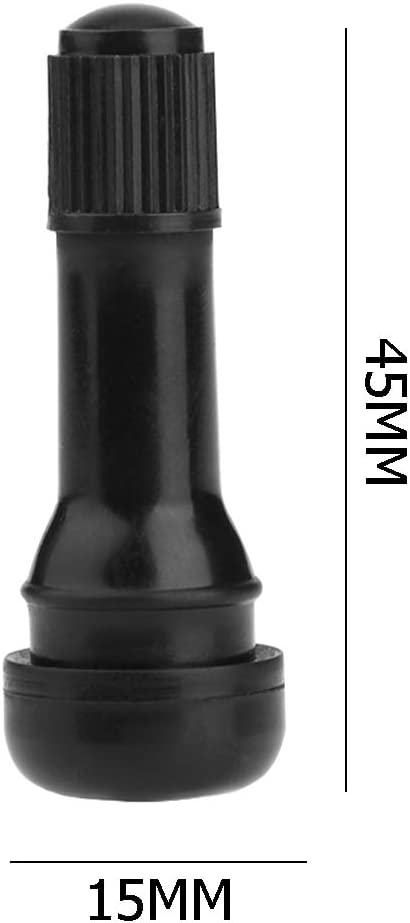 4 Ahomi TR438 Snap-in Rubber Tubeless Tire Car Wheel Tire Stem Valve with Car Dustproof Tire Cap