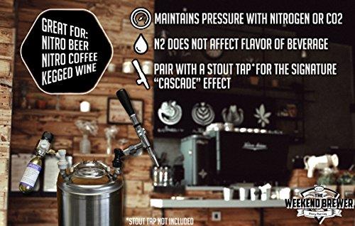 Heavy Duty Nitrogen Keg Charger by The Weekend Brewer (0-50psi)