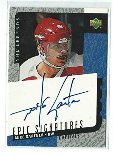 (Mike Gartner Signed 2000/01 Legends Autograph Card #MG - Upper Deck Certified - Hockey Slabbed Autographed Cards)
