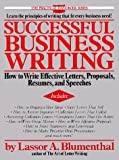 Successful Business Writing, Lassor A. Blumenthal, 0399511466