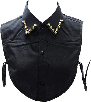 Camisas De Cuello Falso Collar Del Remache Decorativo Cuello Desmontable De Algodón Camisas De Cuello Falso Para La Mujer: Amazon.es: Ropa y accesorios