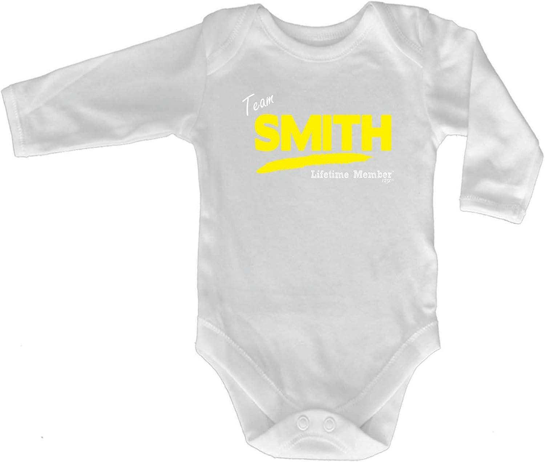 Funny Babygrow Team Lifetime Member Smith V1 Baby Jumpsuit Romper Pajamas