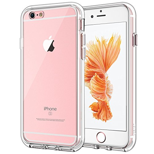 - JETech Case for Apple iPhone 6 and iPhone 6s, Shock-Absorption Bumper Cover, Anti-Scratch Clear Back (Clear)