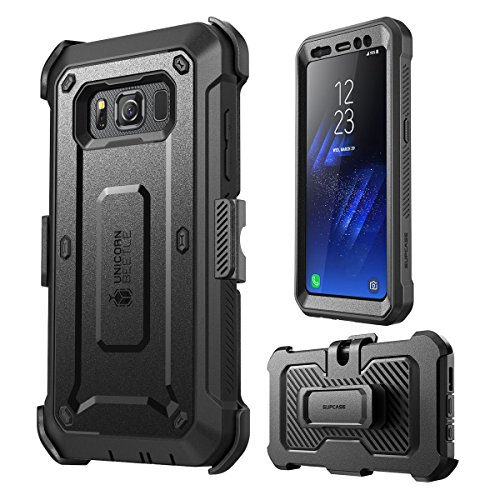 Galaxy S8 Active Case, SUPCASE Full-body Rugged Holster Case with Built-in Screen Protector for Samsung Galaxy S8 Active, Unicorn Beetle PRO Series – Retail Package (Not Fit Regular Galaxy S8/S8 Plus)