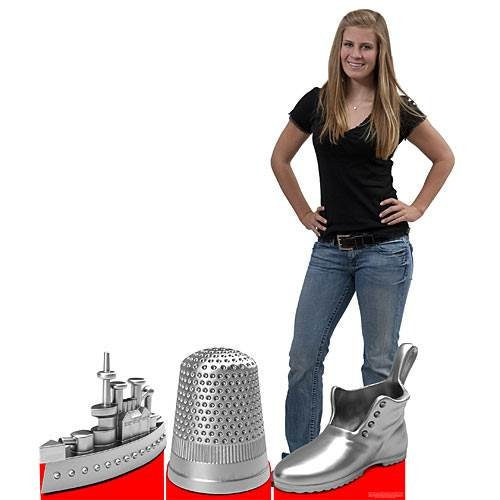 Giant Monopoly Game Pieces 2 ft. 10 in. (Shoe Thimble and (Monopoly Playing Piece)