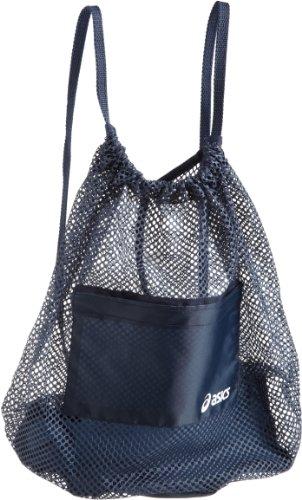 ASICS Mesh Backpack, Navy (Clear Drawstring Backpack)