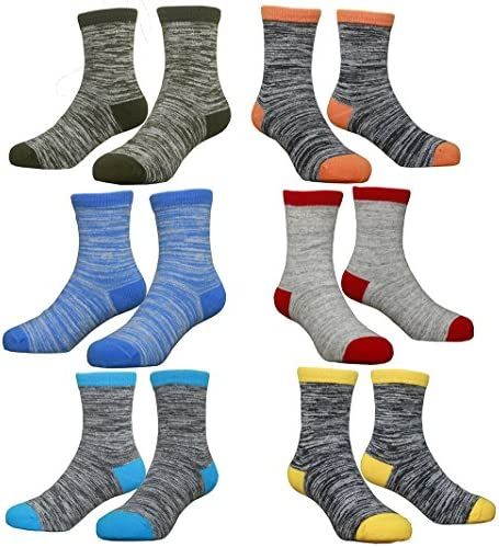 Hzcojulo (Hzcodelo) Little Toddler Kids Boys Girls Fashion Cotton Socks -6 Pairs