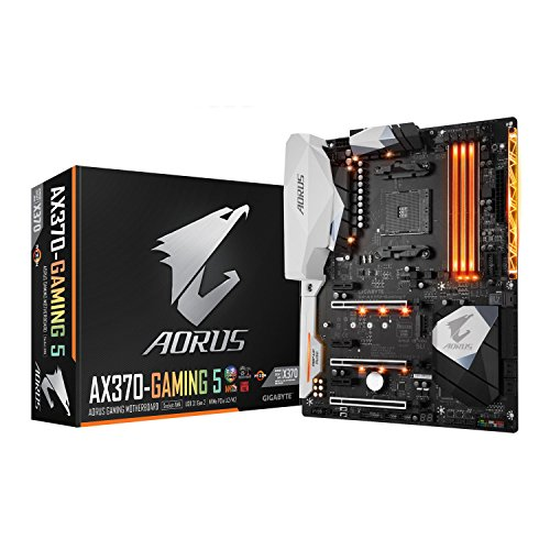 Gigabyte GA-AX370-GAMING 5 AMD X370 Socket AM4 ATX - Placa Base (DDR4-SDRAM, DIMM, 2133,2400,2933,3200 MHz, Dual, 4GB,8GB,16GB, 64 GB)