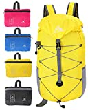 Acrofly 35L Lightweight Waterproof Foldable Travel Backpack Small Outdoor Packable Daypack For Camping & Hiking (yellow) For Sale