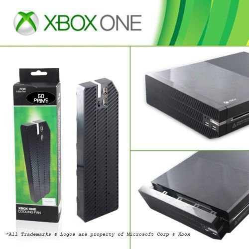 Blended Port (Xbox One Intercooler Cooling Triple Fan with Two USB Extended Port Data Transfer Ability, Flush with Black Console for a Better Blended Look and Controllable Switch for Maximum Airflow)