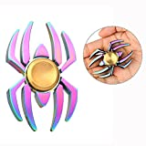 Itian Fidget Spinner Spider Rainbow 360 Triangle Single Finger Anti-Anxiety Helps Focusing Fidget Toys High Performance For Killing Time, Helping Relieve Stress