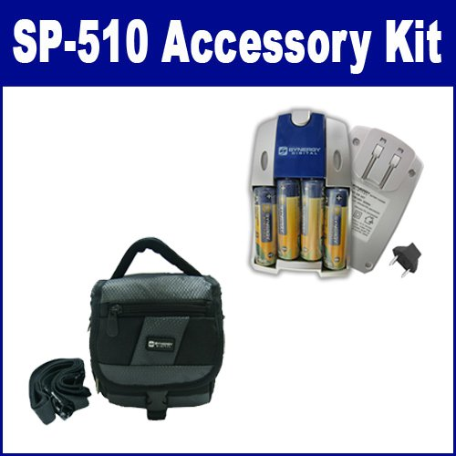 Olympus SP-510 UZ Digital Camera Accessory Kit includes: SDC-27 Case, SB257 Charger