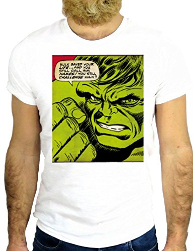 T SHIRT Z0788 SUPER HERO GREEN COOL ROCK MUSCLE FUNNY NICE USA BIANCA - WHITE S