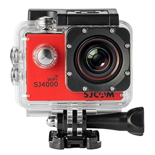 SJCAM Original SJ4000 WiFi Version Full HD 1080P 12MP Diving Bicycle Action Camera 30m Waterproof Car DVR Sports DV with Waterproof Case (RED) Action Cameras SJCAM