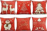 HOSL SD39 Merry Christmas Series Blend Linen Throw Pillow Case...