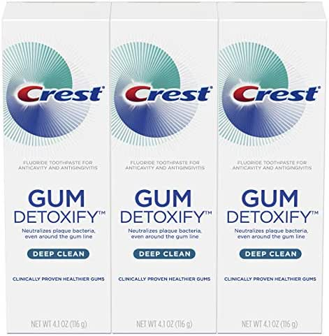 Crest Toothpaste Gum Detoxify Deep Clean, 4.1oz (Pack of 3)