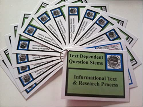 Text Dependent Question Stems INFORMATIONAL TEXT RESEARCH