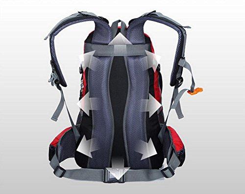 HWLXBB Outdoor Bergsteigen Paket Männer und Frauen 40L Wasserdichte Licht Mehrzweck Bergsteigen Tasche Wanderung Berg Bergsteigen Rucksack ( Farbe : 7* )