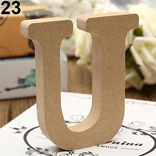 UPC 657702670651, HEART SPEAKER Freestanding Wooden Alphabet Letters Plaque Wedding Home Party Decor size U