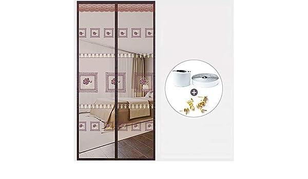 XHINB La Familia Anti Mosquitos Cortinas de Velcro Dormitorio de Verano Puerta con Pantalla magnética a Prueba de mosquiteros Pantalla de ventilación ventilación100×210cm(39x83inch): Amazon.es: Hogar