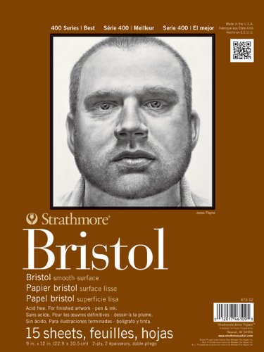 strathmore-str-475-14-15-sheet-bristol-plate-pad-14-by-17