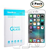 [2 Pack] Innker  iPhone 6 / 6S Plus 5.5 Inch Screen Protector, [Tempered Glass] 0.2mm Ballistic Glass Maximum Impact Protection 99.99% Crystal Clear HD Glass for iPhone 6/6S Plus [Lifetime Warranty]