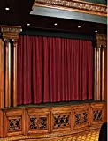 Fascination Royal 100%Thick Cotton Velvet Theater Curtain- ROD POCKET style (12 W by 9 L feet, Burgundy)