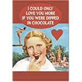 Dipped in Chocolate Valentine's Day Funny Paper Card