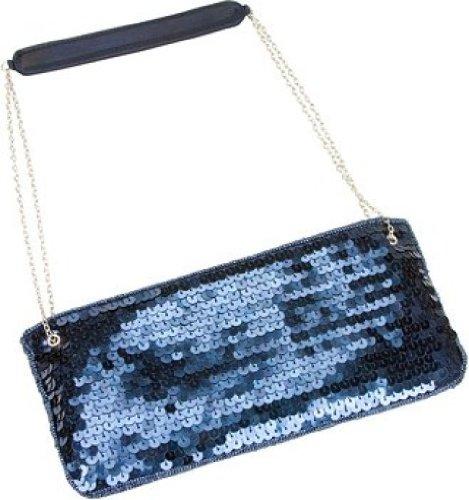 La Purse handbag Regale Sequins Clutch Midnight Color Designer Blue rB6rXHq