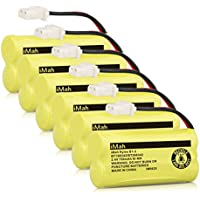iMah Ryme B1-2 BT166342 BT266342 BT183342 BT283342 Cordless Phone Batteries for Vtech CS6114 CS6429 CS6719-2 AT&T EL5210 EL51203 Handset Telephone (Pack of 6)