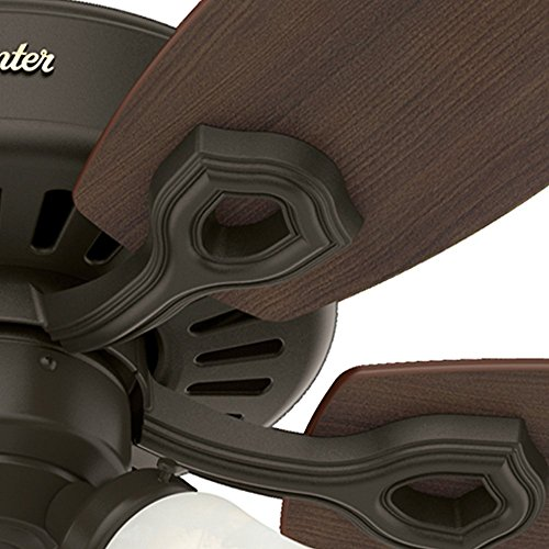 Hunter 52107 Builder Small Room 42-Inch New Bronze Ceiling Fan with Five Brazilian Cherry/Harvest Mahogany Blades and a Light Kit by Hunter Fan Company (Image #6)