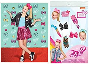 Amazon Com Jojo Siwa Party Photo Booth Bundle 1 Backdrop