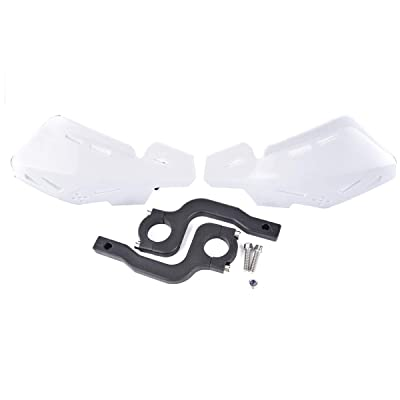"PRO CAKEN Motorcycle Handle Bar Hand Guards Plastic Protector Dirt Bike Motocross ATV 22mm 7/8"" (White): Automotive [5Bkhe0813472]"