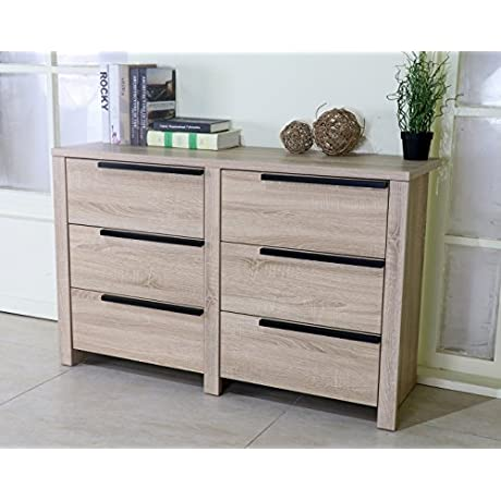 Y1204 Smart Home Weathered White Bedroom Dresser