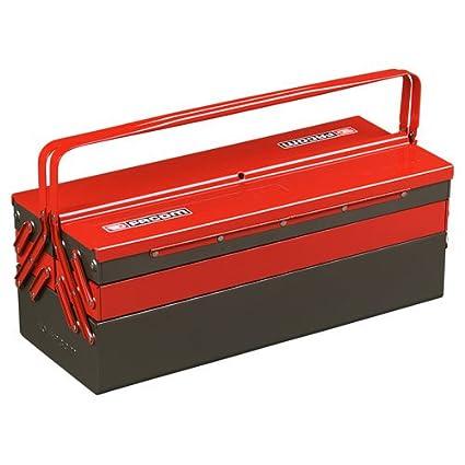 Advanced Facom 5 Metal caja de herramientas y bandejas rojo ...