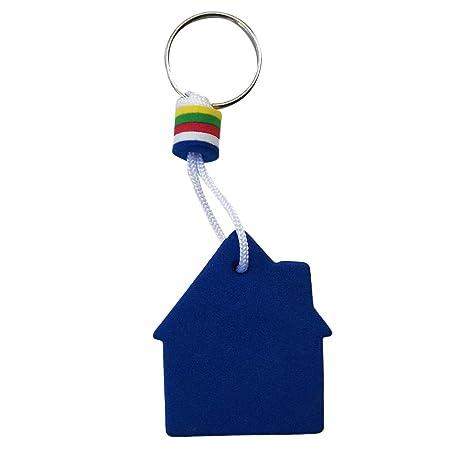 perfk Profesional Llavero Flotador para Deportes y Actividades de Agua al Aire Libre - Azul Amarillo