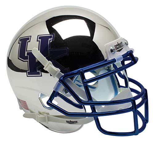 (Schutt NCAA Kentucky Wildcats Mini Authentic XP Football Helmet, Silver Chrome Alt. 2)