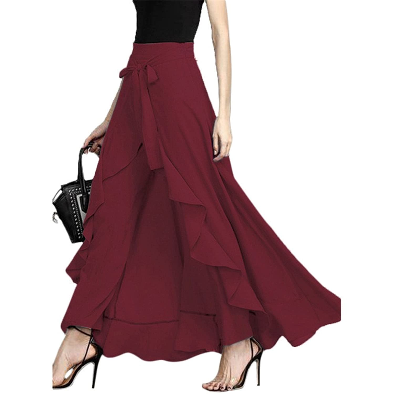 f20f17602 Material: Polyester and spandex, soft and comfortable to wear. The fancy  style is greatly flaunted by the maxi-skirt overlay, bow-tie ribbon, ...