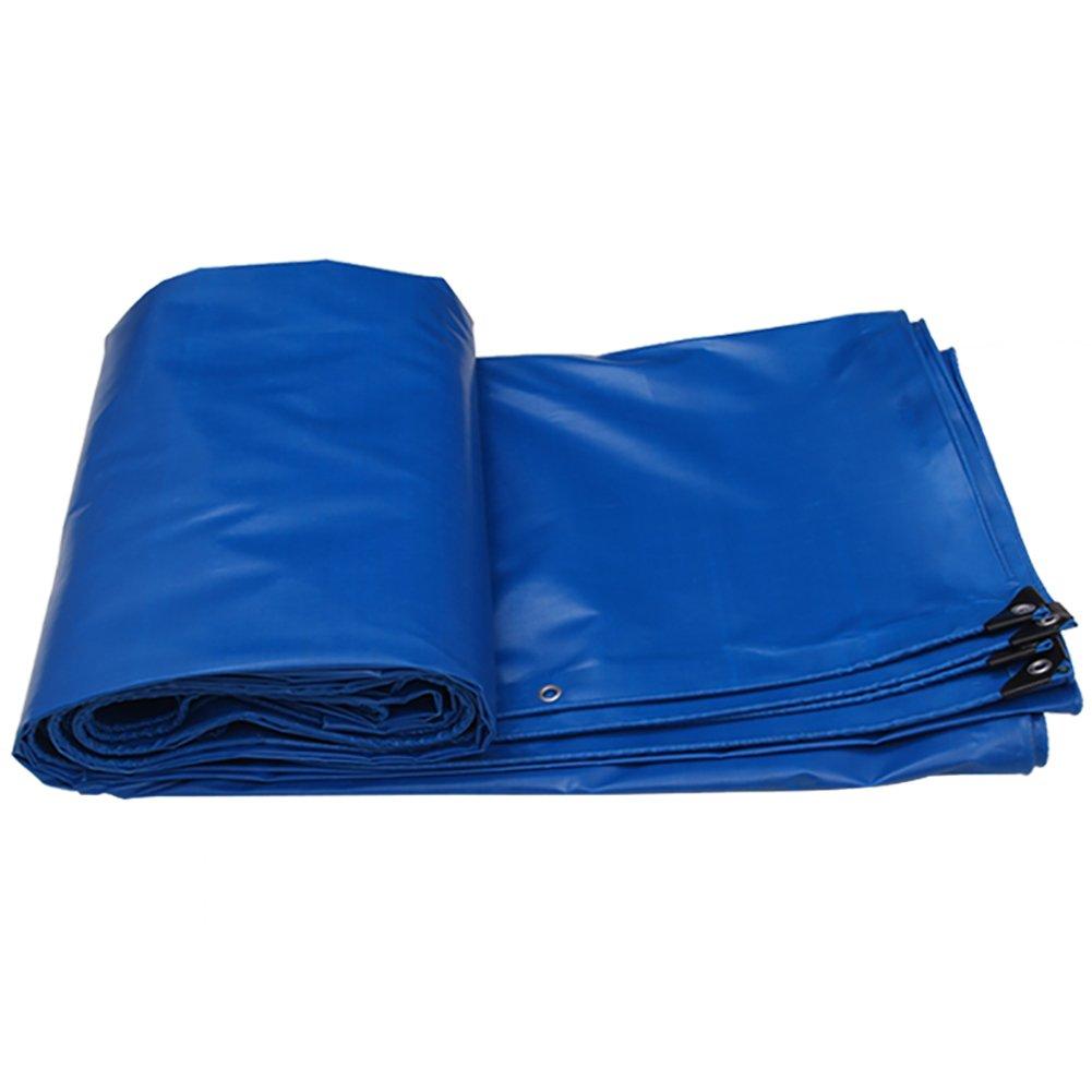 GUOWEI-pengbu ターポリン キャンバス シェード 日焼け止め 防水 老化防止 腐食保護 ポリエステル糸 屋外 5色 (色 : Blue, サイズ さいず : 3.85x2.85m) B07FZ7TCP1 3.85x2.85m|Blue Blue 3.85x2.85m