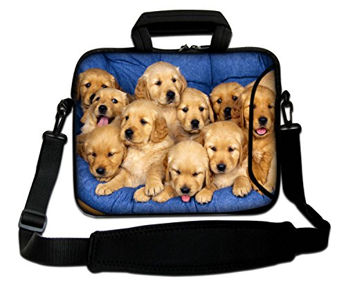 MacBook Bag Shoulder and MacBook Puppies Design Retina iBook Soft Laptop Family Air Sleeve With Pro MacBook Strap MacBook Case for Handle MacBook PowerBook Aluminum Notebook Pro Apple Unibody z1zxX