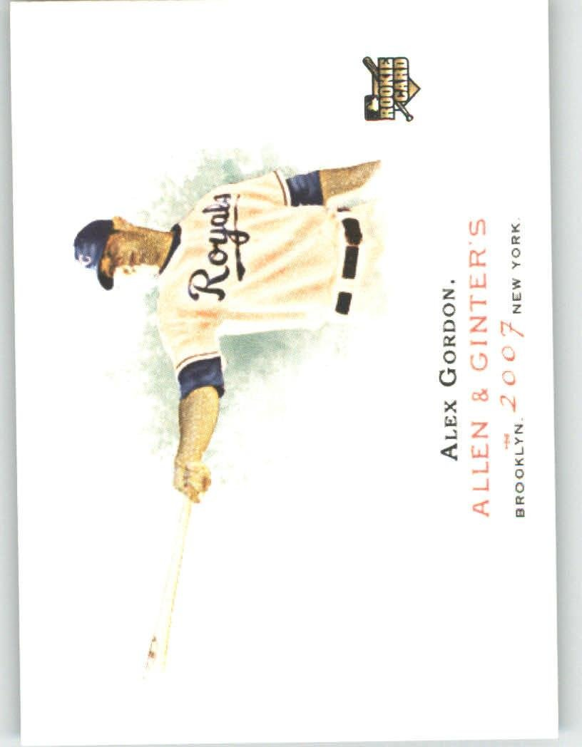 2007 Topps Allen & Ginter # 204 Alex Gordon Kansas City Royals (RC) Rookie Baseball Card
