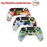 Sony Playstation 4 Ps4 Controller Case-Budesi Silicone Rubber Soft Case Gel Skin Cover Protector Kits for Sony PlayStation 4 PS4 Controller