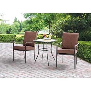 Mainstays Crossman 3-Piece Outdoor Bistro Set II with Arms, Seats 2