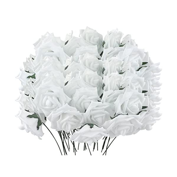 obmwang-50PCS-White-Foam-Roses-Flowers-Real-Touch-Artificial-Rose-Flowers-DIY-3D-Wedding-Bridal-Bouquet-Home-Hotel-Party-Garden-Floral-Decor-White