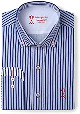 Camisa Manga Larga Semi-Entallada, con Rayas Verticales de ...