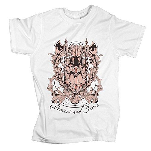 ZDesign T-Shirt Protect and Serve | Beschützen und Dienen | Polizei | Größe XS-4XL | Ideales Geschenk